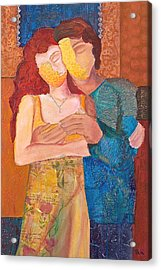Man And Woman Acrylic Print by Debi Starr