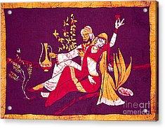 Man And Woman India Batik Acrylic Print by Merton Allen
