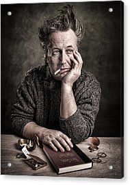 Man At The Table - Lonely Hearts Club Acrylic Print by Gary Heller