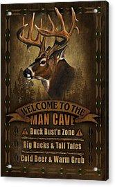 Man Cave Deer Acrylic Print