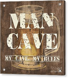 Man Cave My Cave My Rules Acrylic Print