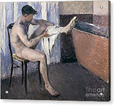 Man Drying His Leg  Acrylic Print by Gustave Caillebotte