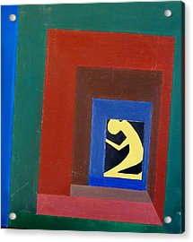 Man In A Box Acrylic Print by Lenore Senior