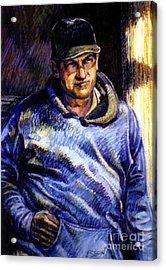 Man In Barn Acrylic Print by Stan Esson