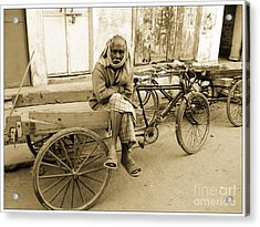 Man In India Acrylic Print by Sophie Vigneault