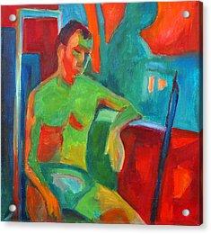 Man In Still Life Acrylic Print by Magdalena Mirowicz