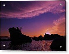 Acrylic Print featuring the photograph Man In Sun At Bonsai Rock by Sean Sarsfield