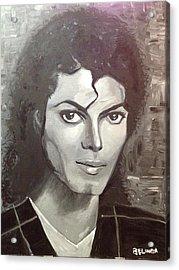 Man In The Mirror Acrylic Print by Belinda Low