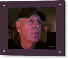Man In The Mirror Acrylic Print by Wayne Bonney