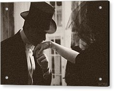 Man Kissing A Womans Hand Acrylic Print