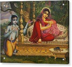 Man Lila Acrylic Print by Vrindavan Das