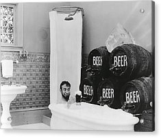 Man Loves Cold Beer  1916 Acrylic Print