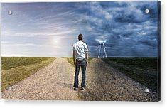 Man Must Decide His Way Forward To Success Or Failure Acrylic Print by Mikkelwilliam