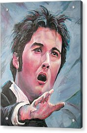 Acrylic Print featuring the painting Man Of Opera by Peter Suhocke