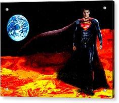 Man Of Steel Acrylic Print by Daniel Janda
