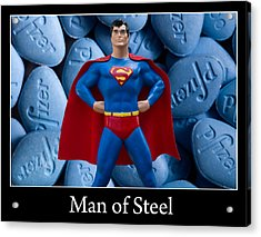 Man Of Steel Acrylic Print by William Patrick