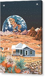 Man On The Moon Acrylic Print by Anne Gifford