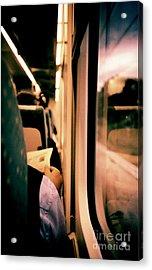 Man On Train - Lomo Lca Xpro Lomographic Analog 35mm Film Acrylic Print by Edward Olive