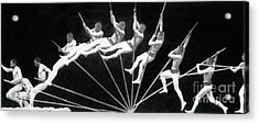 Man Pole Vaulting 1884 Acrylic Print by Nypl
