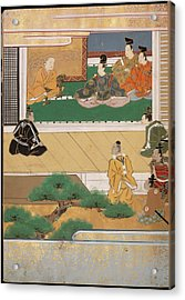 Man Sitting On A Verandah Acrylic Print by British Library