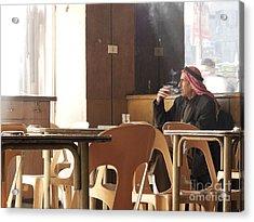 Man Smoking In Aleppo Syria Acrylic Print