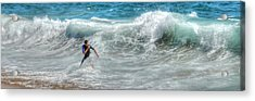 Man Vs Wave Acrylic Print
