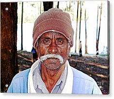 Man With A Mustache Acrylic Print by Ethna Gillespie