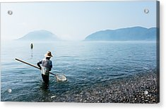 Man With A Net Acrylic Print