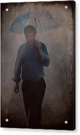 Man With An Umbrella Acrylic Print