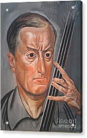 Man With Cello Acrylic Print by Celestial Images