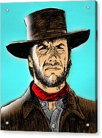 Clint Eastwood Acrylic Print by Salman Ravish
