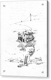 Manana Hermitage Acrylic Print by Richard Wambach