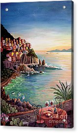 Manarola-cinque Terre-italy Acrylic Print by Marilyn Smith