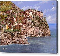 Manarola   Acrylic Print by Guido Borelli