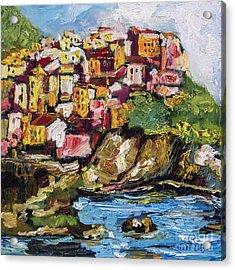 Manarola Italy Cinque Terre Acrylic Print