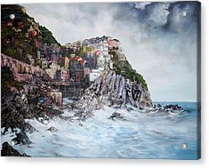 Acrylic Print featuring the painting Manarola Italy by Jean Walker