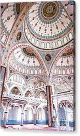 Manavgat Mosque Interior 02 Acrylic Print by Antony McAulay
