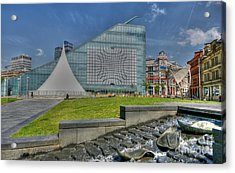 Manchester Urbis Building Acrylic Print by David Birchall