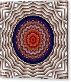 Acrylic Print featuring the digital art Mandala 10 by Terry Reynoldson