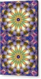 Mandala 105 For Iphone Double Acrylic Print by Terry Reynoldson
