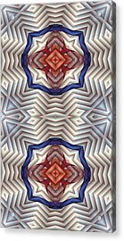 Mandala 11 For Iphone Double Acrylic Print by Terry Reynoldson