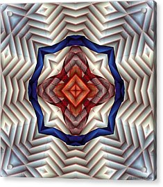 Acrylic Print featuring the digital art Mandala 11 by Terry Reynoldson