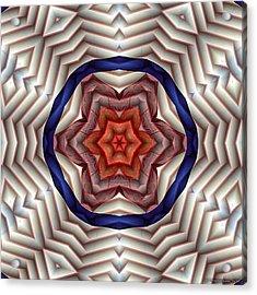 Acrylic Print featuring the digital art Mandala 12 by Terry Reynoldson