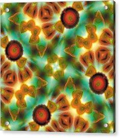Mandala 131 Acrylic Print by Terry Reynoldson
