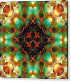 Mandala 132 Acrylic Print by Terry Reynoldson