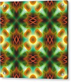 Mandala 134 Acrylic Print by Terry Reynoldson