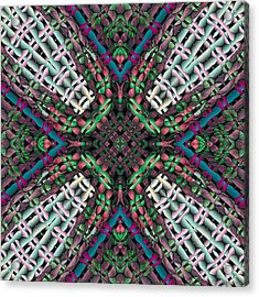 Acrylic Print featuring the digital art Mandala 32 by Terry Reynoldson