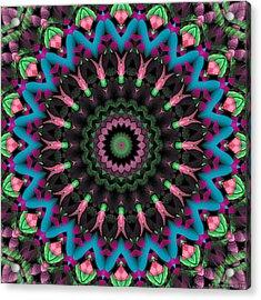 Acrylic Print featuring the digital art Mandala 35 by Terry Reynoldson