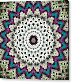 Mandala 36 Acrylic Print by Terry Reynoldson