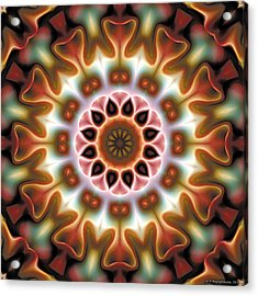 Acrylic Print featuring the digital art Mandala 67 by Terry Reynoldson